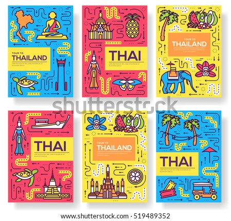 thailand thin line brochure...