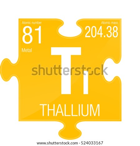 Vector Images Illustrations And Cliparts Thallium Symbol Element