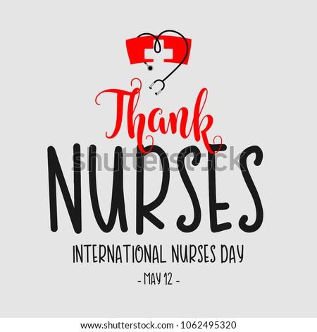 Thank Nurses International Nurses Day Vector Template Design Illustration