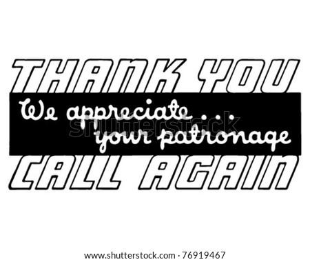 Thank You Call Again 4 - Retro Ad Art Banner
