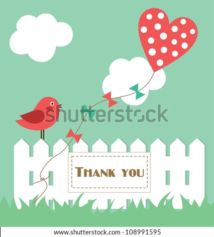 thank you card design. vector illustration