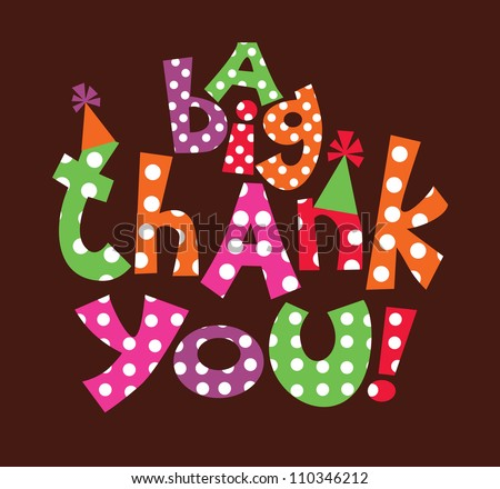 thank you card design vector illustration