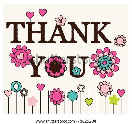 Thank you card floral designs
