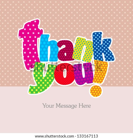 Thank you card (Typography Design)
