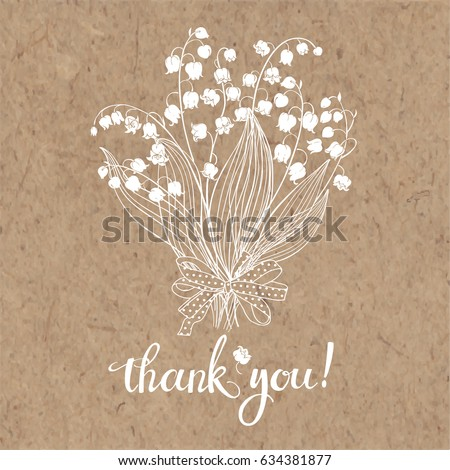 thank you card with a bouquet