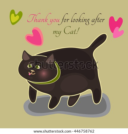 thank you card with a fat green
