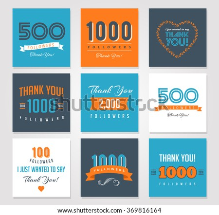 thank you followers  badges