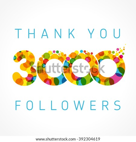 thank you 3000 followers