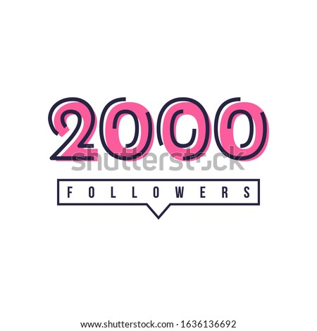 thank you 2000 followers