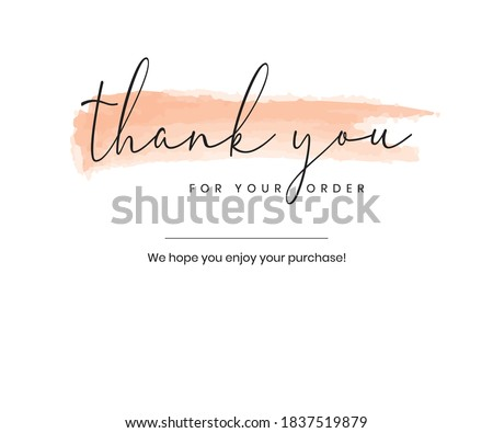Thank you for your order card eps vector Foto stock ©