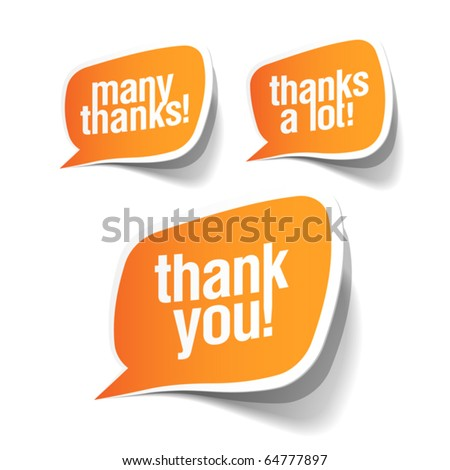 stock vector : Thank you - grateful bubbles. Vector.