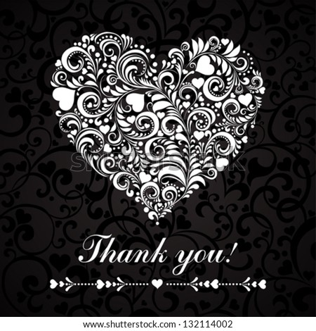 Thank you message.  Vector illustration.