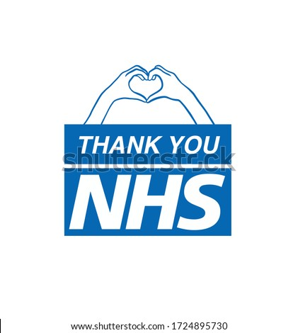 Thank You NHS, Stay at Home, Save Lives Posters logos vectors Rainbow UK