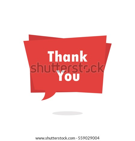 Thank you speech bubble banner vector