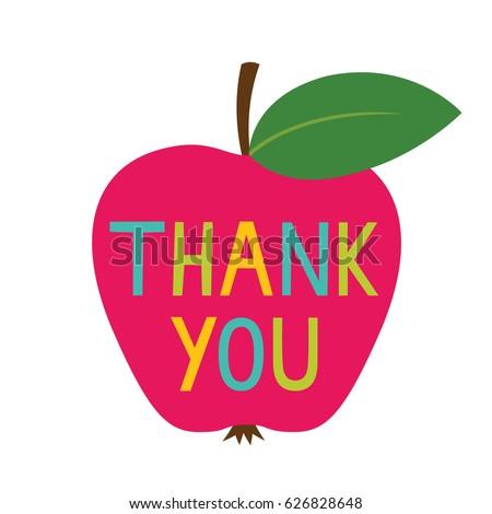 Thank you Teacher's Day vector card