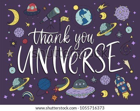thank you universe handdrawn