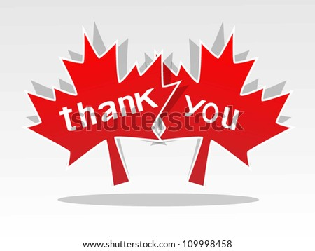 Thank You with maple leaf