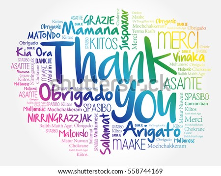 Thank You Word Cloud concept background… Stock Photo 369021347