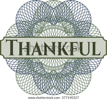 Thankful abstract rosette