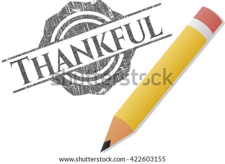 Thankful draw (pencil strokes)