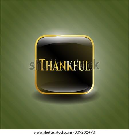 Thankful golden emblem