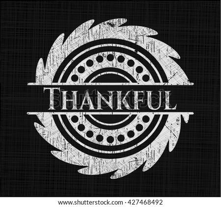 Thankful written on a blackboard