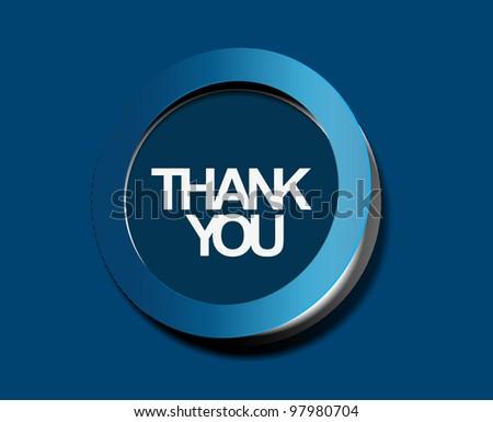 thanks you sticker design. vector illustration. - stock vector