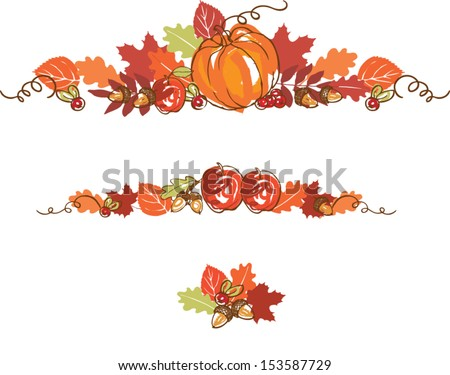 Thanksgiving autumn background vector illustration