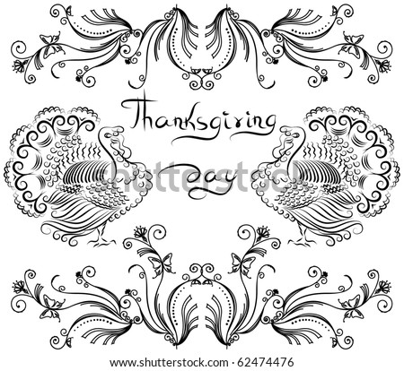 Thanksgiving background .Vector postcard.