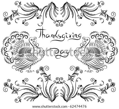 Thanksgiving background .Vector postcard.
