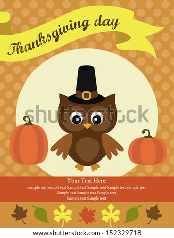 thanksgiving card design vector illustration