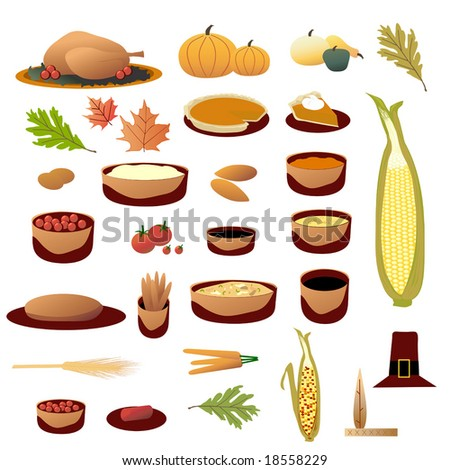 Thanksgiving Collection vector is original artwork.