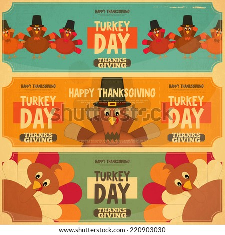 thanksgiving day card retro