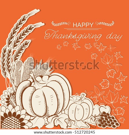 thanksgiving day card with...