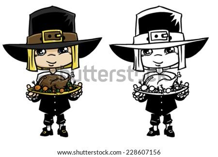 thanksgiving day pilgrim with