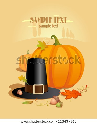 Thanksgiving Design template with place for text. - stock vector