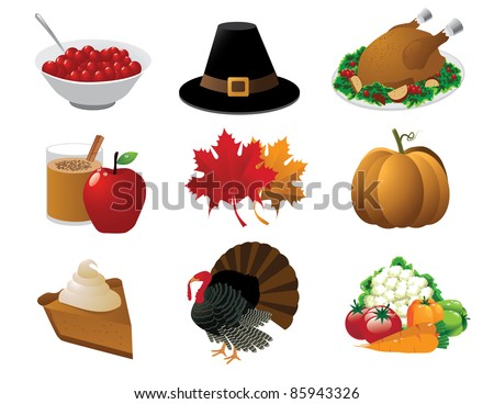 Thanksgiving icons A set of icons for Thanksgiving. Grouped for easy editing. EPS 8 with no open shapes, strokes or transparencies.