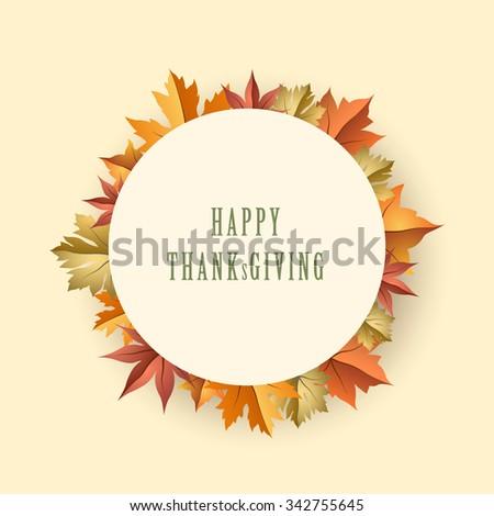 Thanksgiving Maple Graphic Design Vector Illustration EPS10