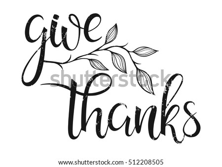 Free Give Thanks Vector Background