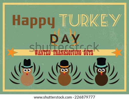 thanksgiving vintage poster in