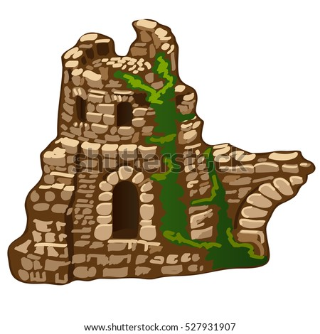 the abandoned ruins of an old