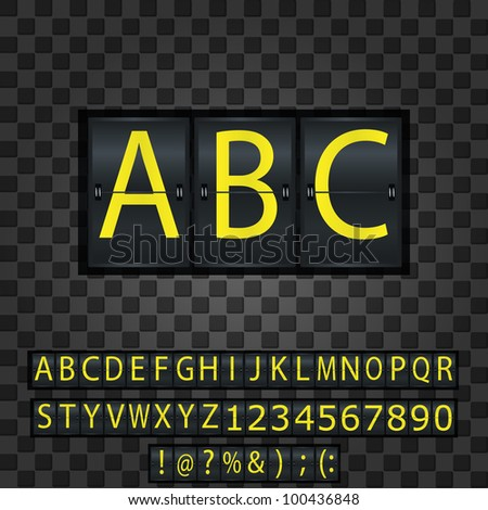 The ABC letters on the metal background
