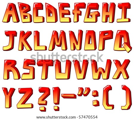 The abc Stylized letters