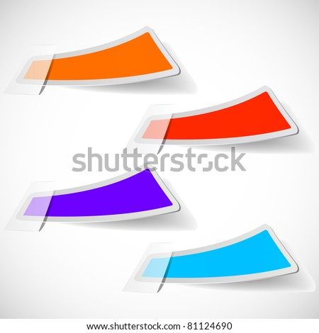 the abstract colored sticker set - vector illustration