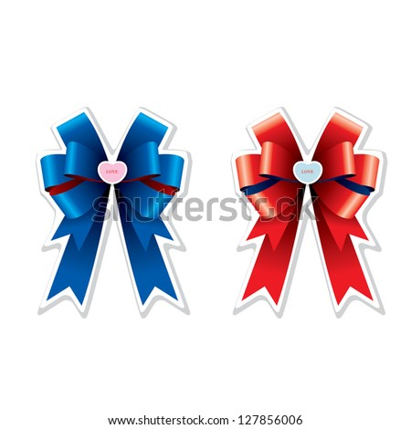 The abstract of Bows collection vector.