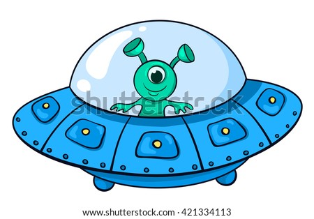 the alien in the spaceship
