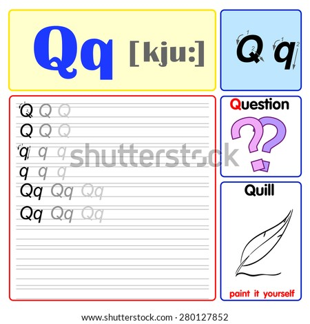 Number Names Worksheets learn to write the alphabet : The Alphabet From A To Z, Learn To Write English Letters Stock ...
