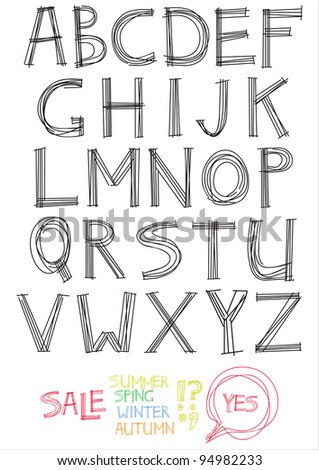 The Alphabet from my big font collection