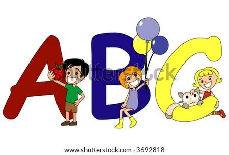The alphabet preschool series vector stock vector