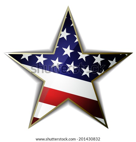the american flag as star